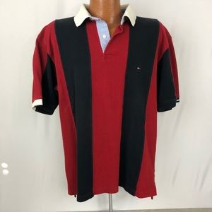 Tommy Hilfiger Vintage Polo Shirt Striped XL